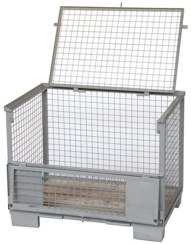 1240x835xH970 Pool wiremesh container with Lid