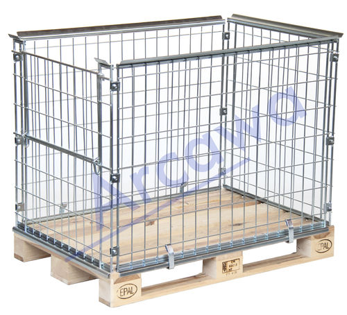 1200x800xH870 Pallet cage - 1 flap 800mm side